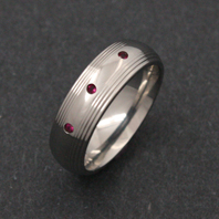 Classic Titanium Ring - Ruby Orion