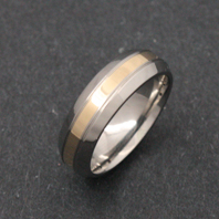 Titanium Ring - Gold Amasis
